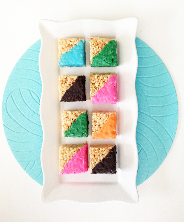 GOOD EATS / Funky Geometric Colorful Rice treats / The Sweet Escape