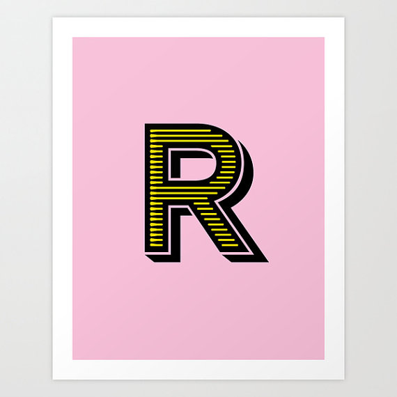 Letter R Initial Print / The Sweet Escape