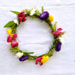 DIY: A simple flower crown from old centerpiece flowers / The Sweet Escape