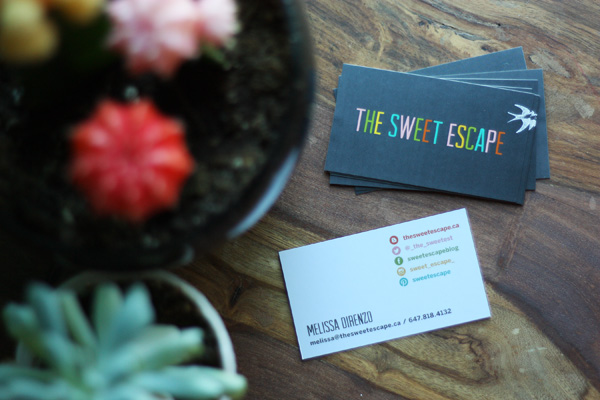 sweet escape biz card
