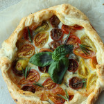 Tomato Mozzarella Galette Recipe / The Sweet Escape