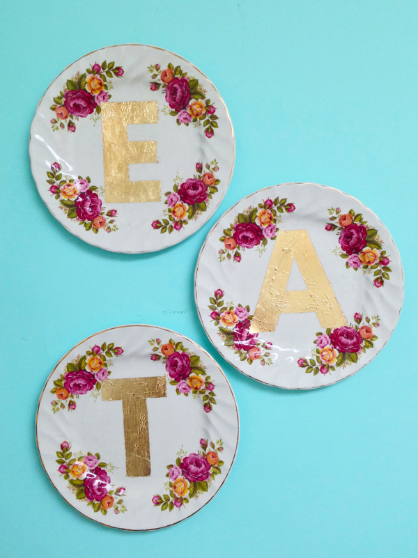 Etsy Made in Canada Gold Plates / THe Sweet Escape