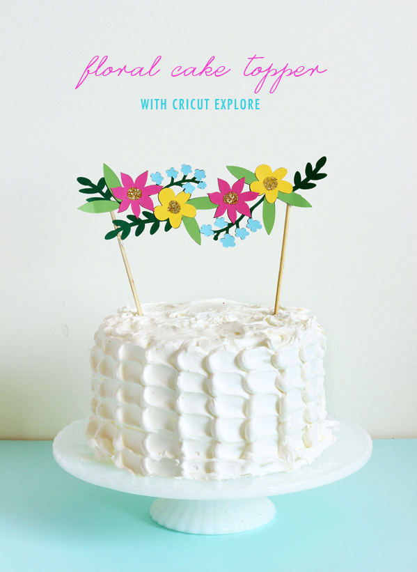 cricut explore flower cake topper5