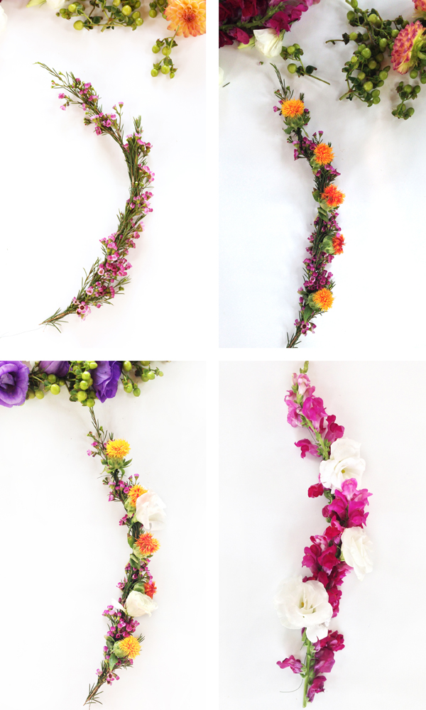 how to make a flower crown with fresh flowers