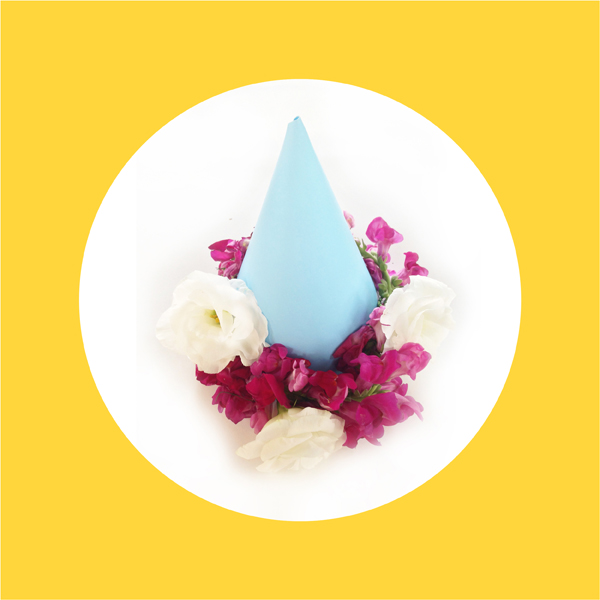 DIY: Fresh Flower Birthday Hat / The Sweet Escape