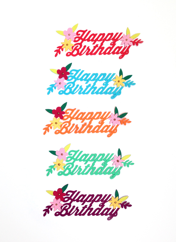 Etsy Made in Canada happy birthday cake topper / THe Sweet Escape