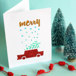 handmade christmas card, cricut machine, glitter, christmas, holiday card, handmade, diy