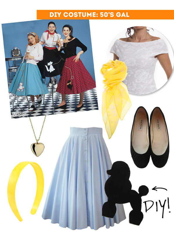 DIY Thift Shop Halloween Costumes - 50's girl / The Sweet Escape