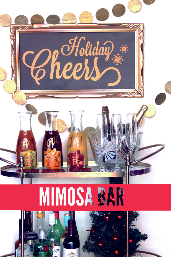 DIY Holiday Mimosa Bar / The Sweet Escape