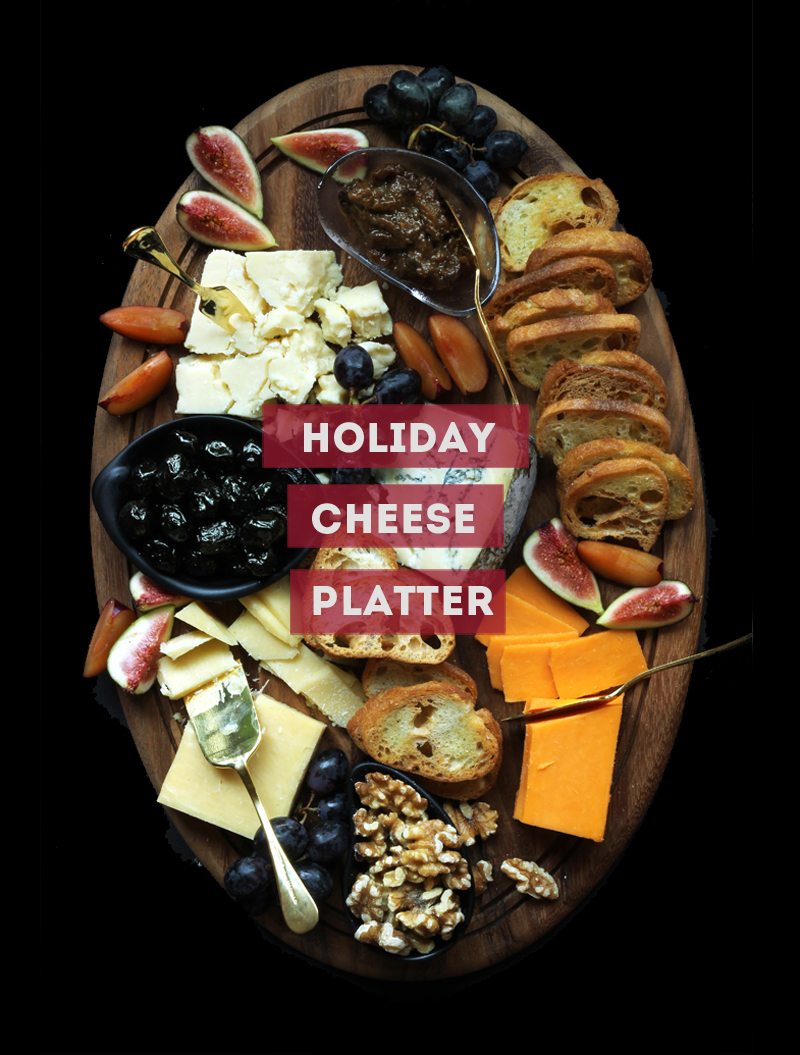 Winter Cheese Tray for Holiday Party / The Sweet Escape