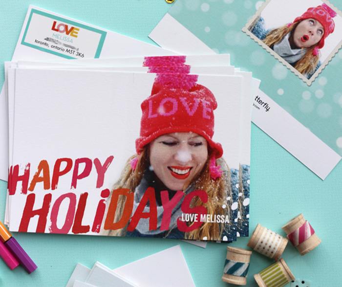 photo holiday cards with Shutterfly