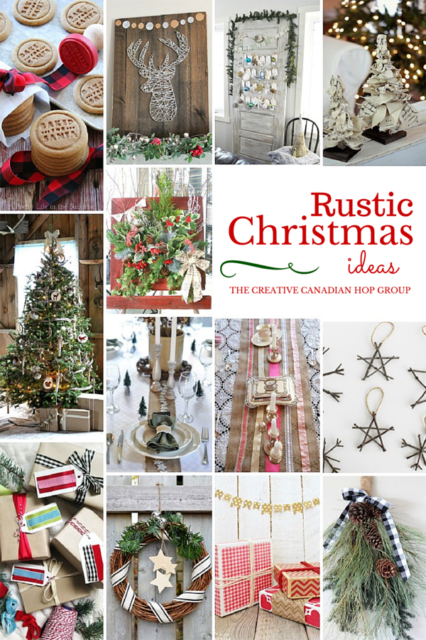 Rustic Christmas DIY Projects / The Sweet Escape