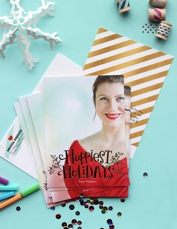 Christmas Gold Foil Holiday Photo Cards by Shutterfly / The Sweet Escape