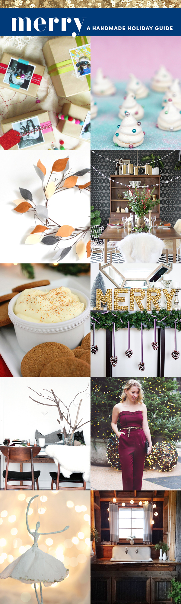 Merry Handmade Christmas Magazine Preview / The Sweet Escape