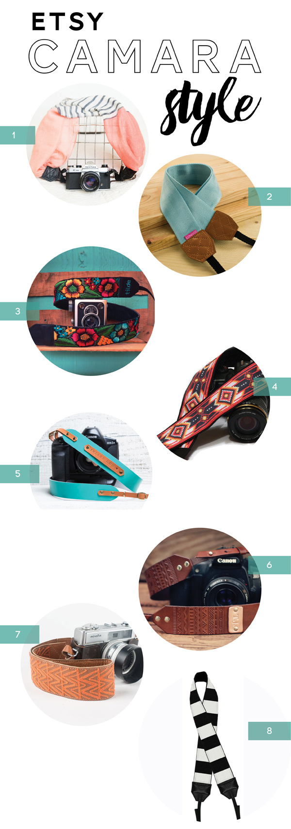 Etsy Camera Straps / Canon Camera Giveaway / The Sweet Escape