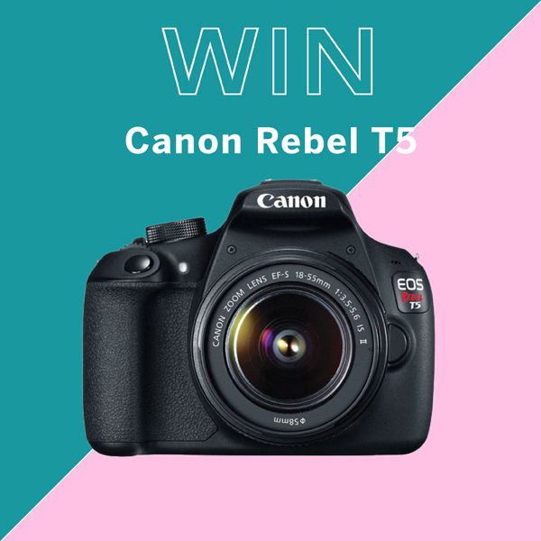 Canon Rebel T5 camera giveaway / The Sweet Escape