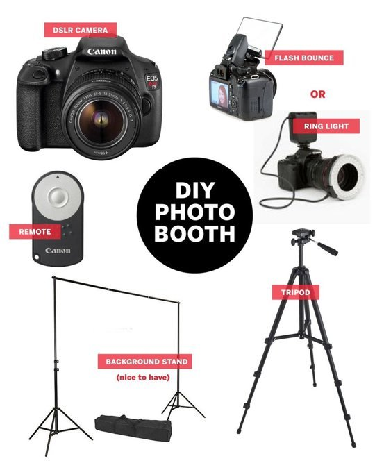 at home DIY photo booth kit / THe Sweet Escape