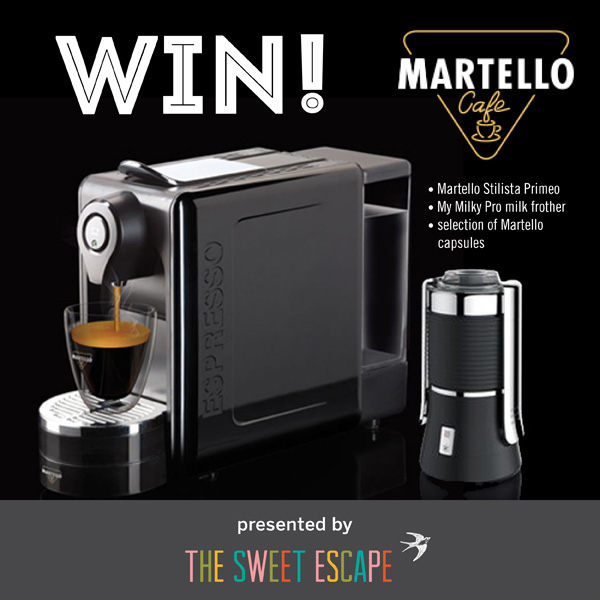 Martello Stilista coffee machine giveaway