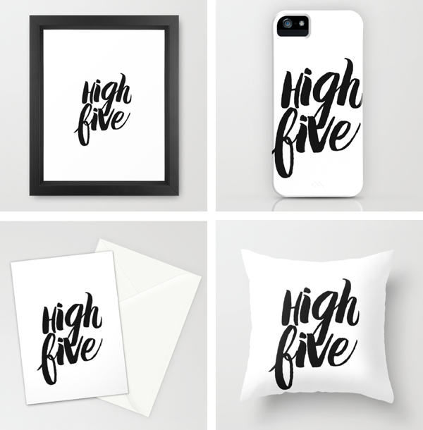 DESIGN: high five for being wild