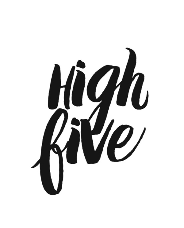 High Five Original print by The Sweet Escape