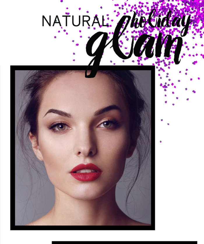BEAUTY: natural holiday beauty looks