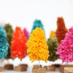 mini diy yarn christmas trees