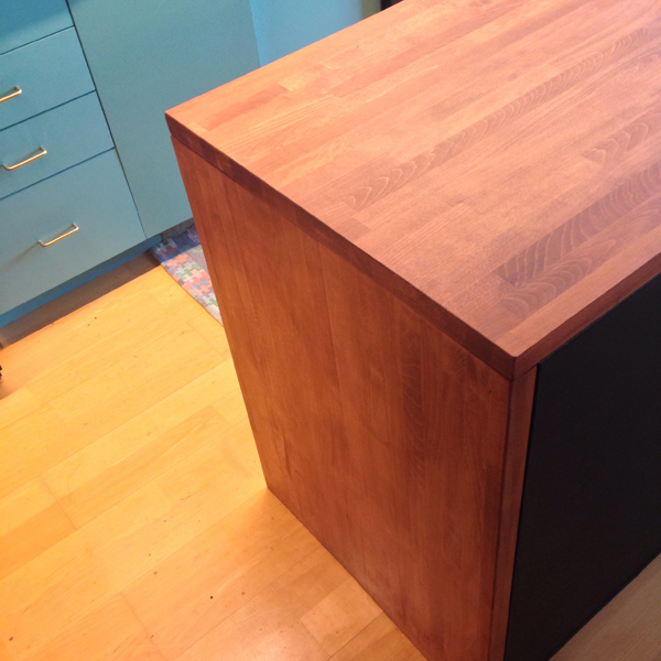DIY butcher block island 1