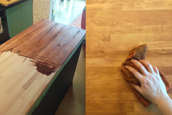 DIY butcher block island 4
