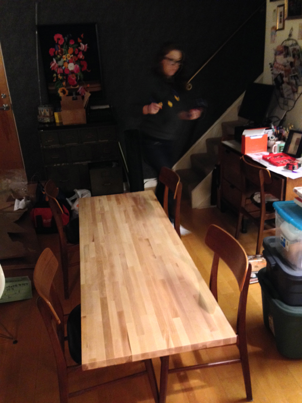 DIY butcher block island 8