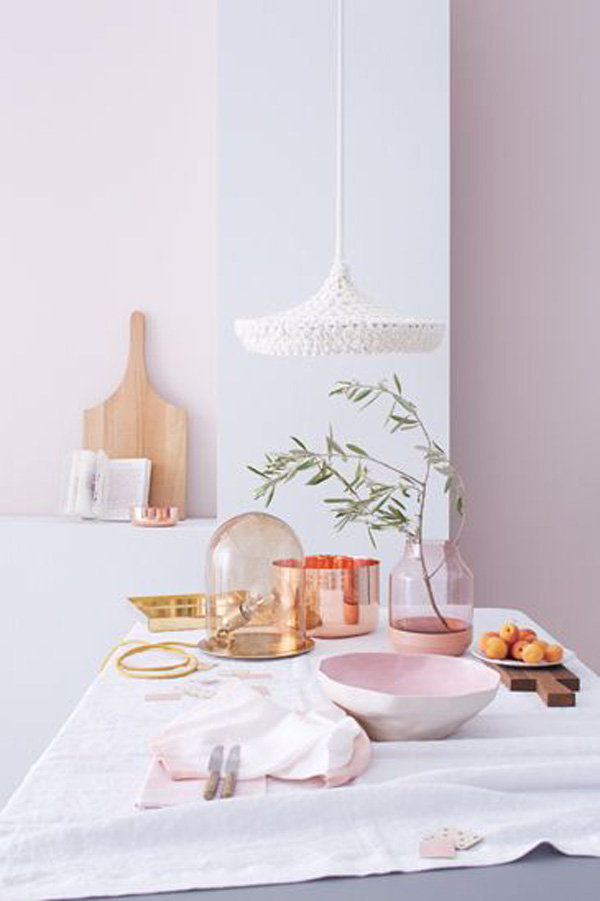 Blush Pink Home Decor Trend / The Sweet Escape  #pastel #copper