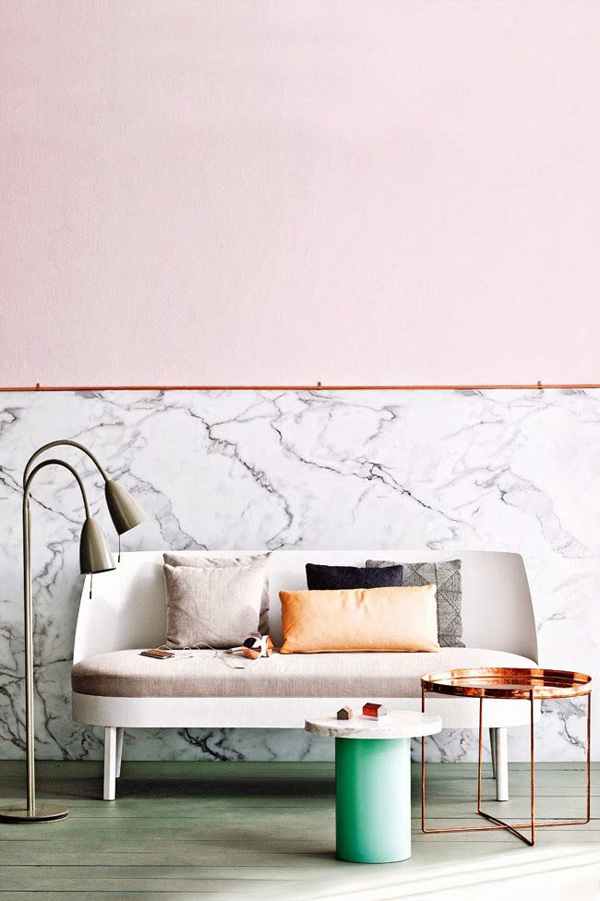blush pink interior trend The Sweet Escape