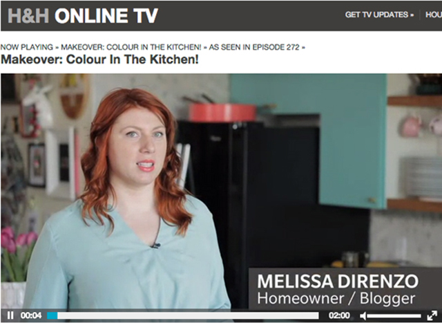 KITCHEN MAKEOVER: our online TV debut with House & Home
