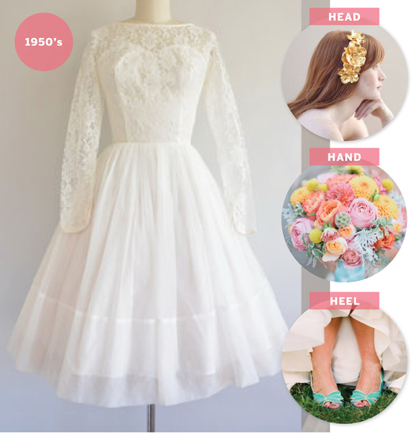 How to Style a Vintage Wedding Dress from Etsy / The Sweet Escape