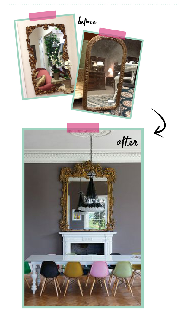 BEFORE  AFTER new teak hutch + $ furniture giveaway - The