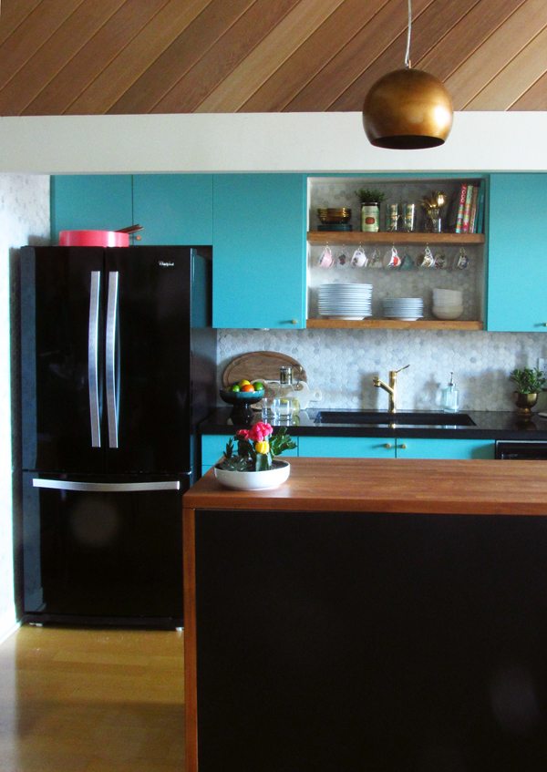 modern vintage kitchen makeover by the sweet escape