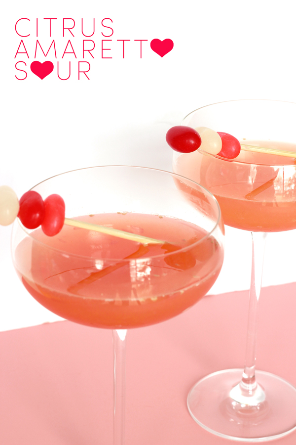 DRINK UP: citrus amaretto sour valentine cocktail