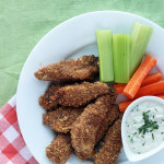 Gluten and Diary Free Chicken Fingers & garlic chive dip / The Sweet Escape