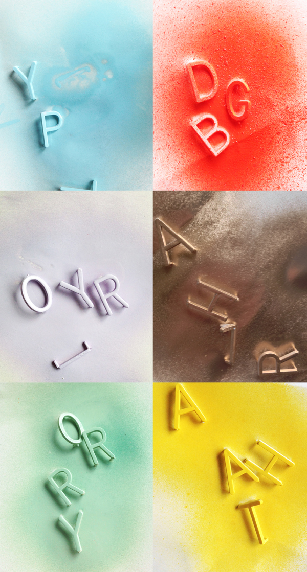 DIY party headbands letters