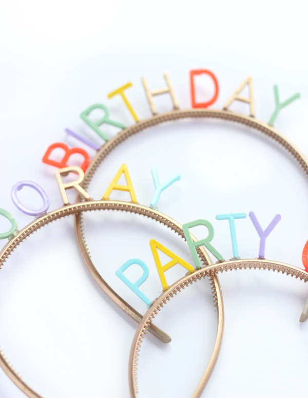 DIY birthday party headbands