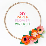 colorful spring summer paper flower wreath