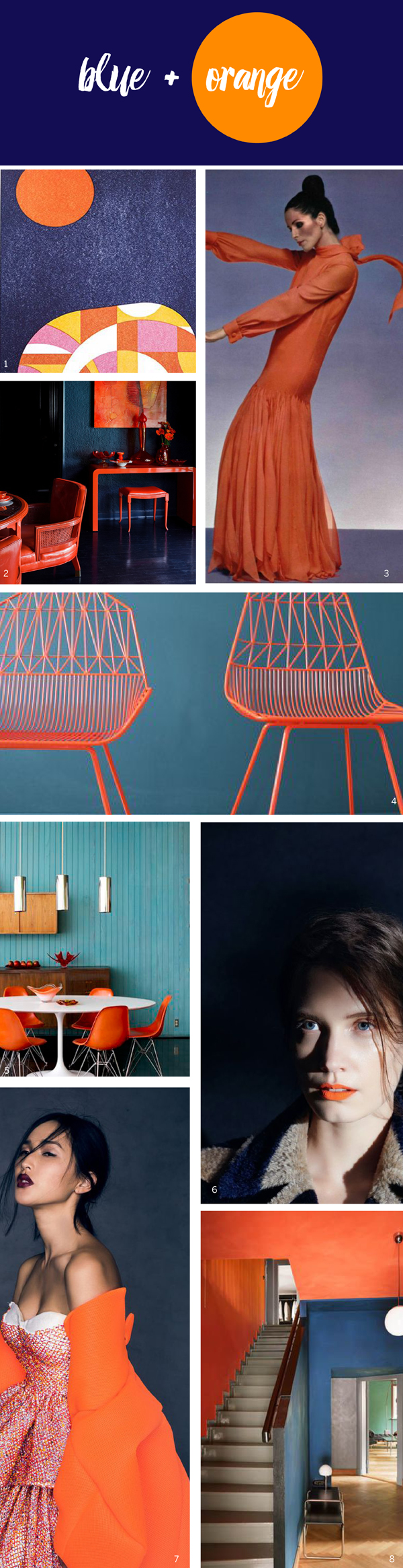 Color Story: Blue + Orange / The Sweet Escape