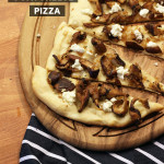 mushroom goat cheese pizza by The Sweet Escape