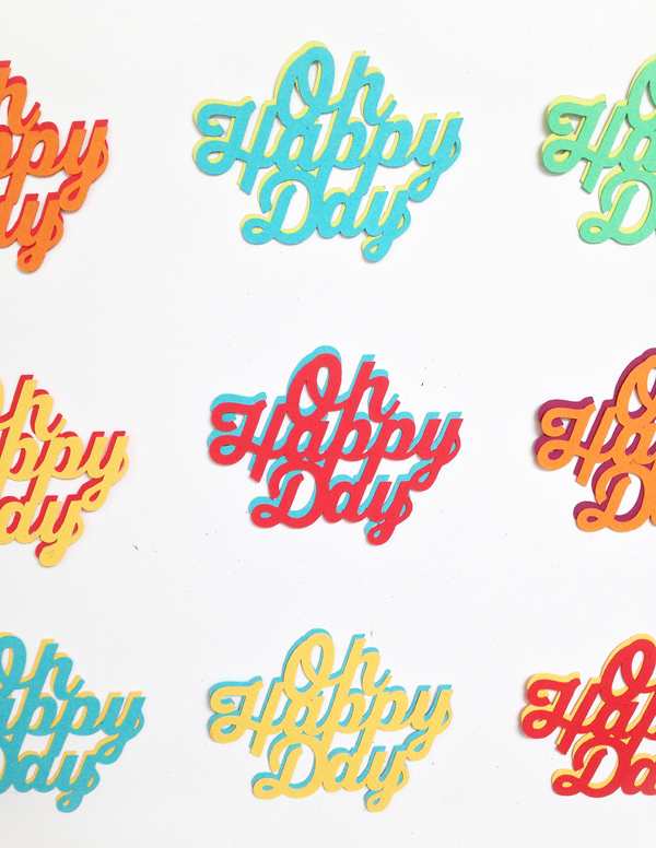 Oh Happy Day Paper Cake Topper Giveaway / The Sweet Escape