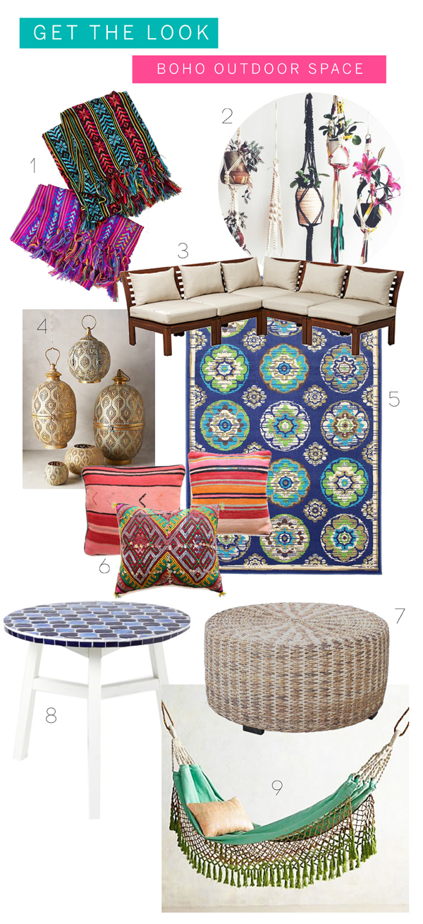 Outdoor Boho Space Get the look