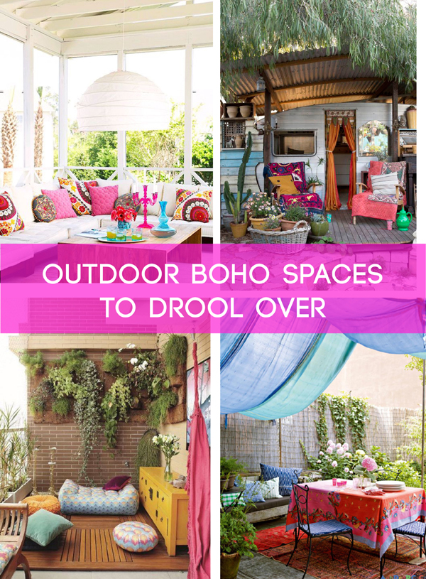 SPACES: 10 outdoor Boho spaces to drool over