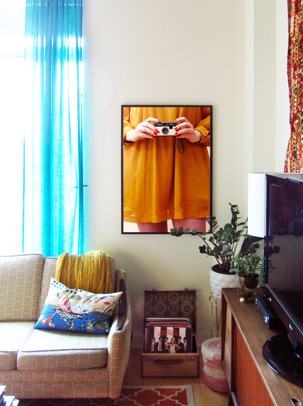 BEFORE & AFTER: give your room a mini makeover with photo art