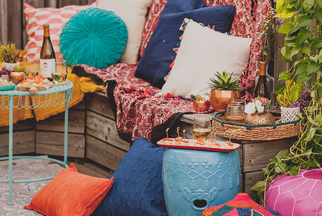 SPACES: a boho rooftop affair