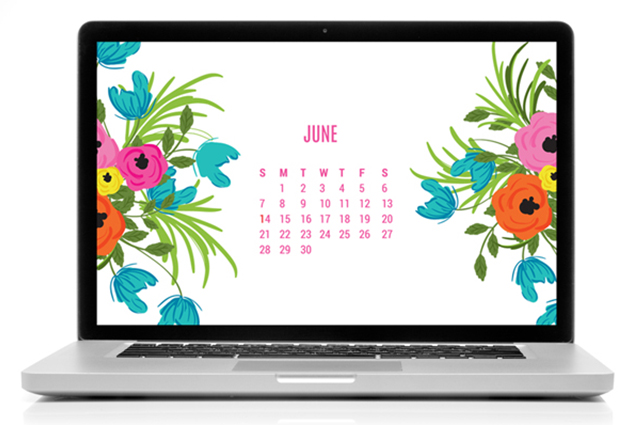 PRETTY TECH: free June Desktop Calendar Download