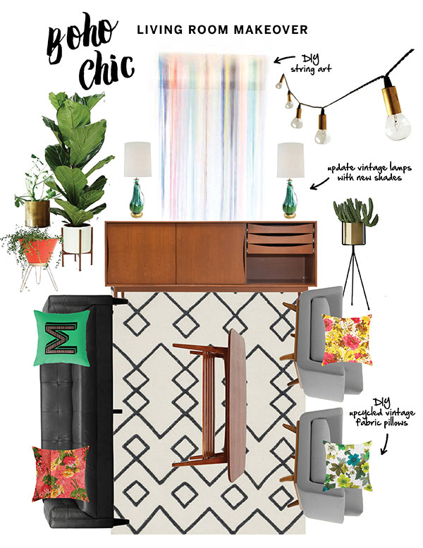 Living Room Makeover Moodboard / The Sweet Escape