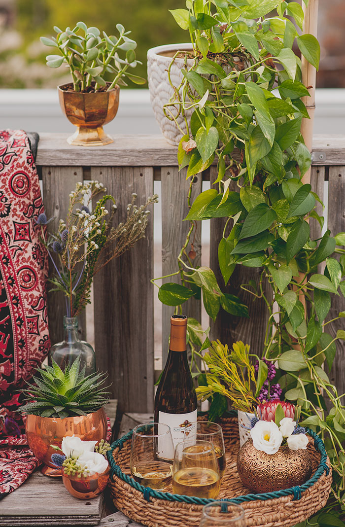 Boho Rooftop Patio Summer Party